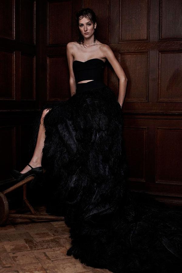 Черное свадебное платье от Веры Ванг