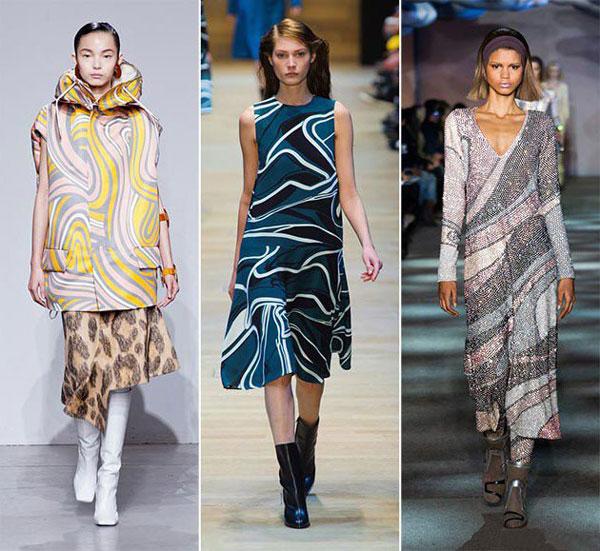 Модные абстрактные принты осень-зима 2015-2016