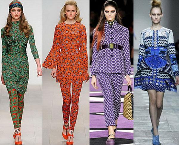 Модные цветочные принты осень-зима 2015-2016