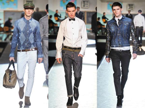 Мужские джинсвовые пиджаки 2015-2016