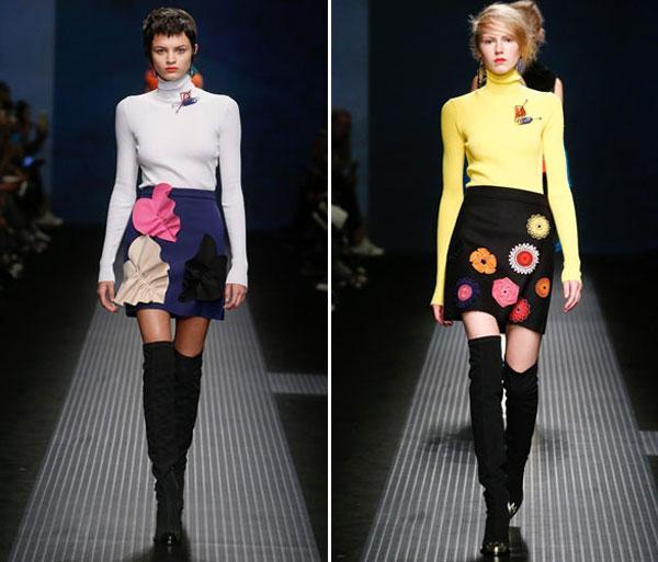 Модные короткие юбки осень-зима 2015-2016