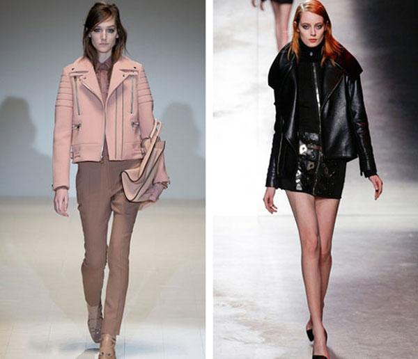 Модные Кожаные Куртки 2014