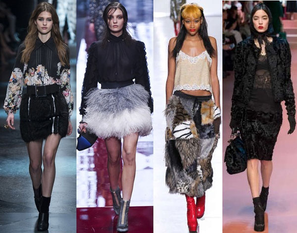 Модные меховые юбки