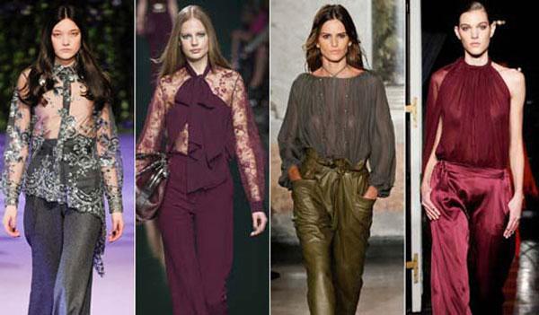 Модные цвета блузок сезона осень-зима 2015-2016