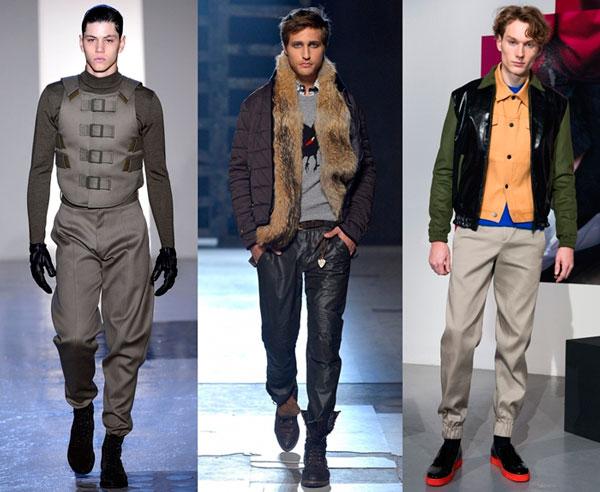 Мужские брюки в стиле милитари осень-зима 2015-2016
