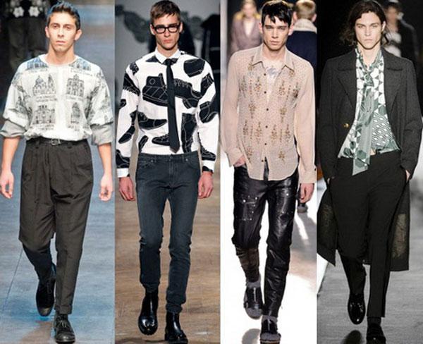 Мужские рубашки с принтами осень-зима 2015-2016