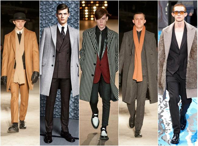 Цвета и принты мужских пальто осень-зима 2015-2016