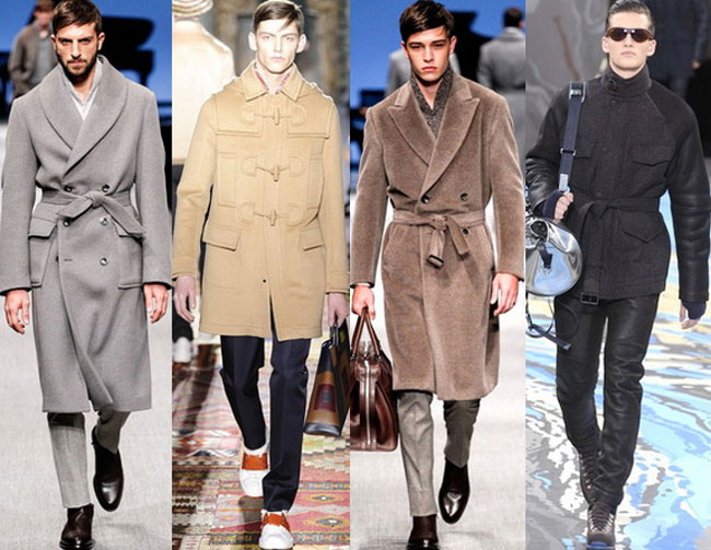 Двубортные мужские пальто осень-зима 2015-2016
