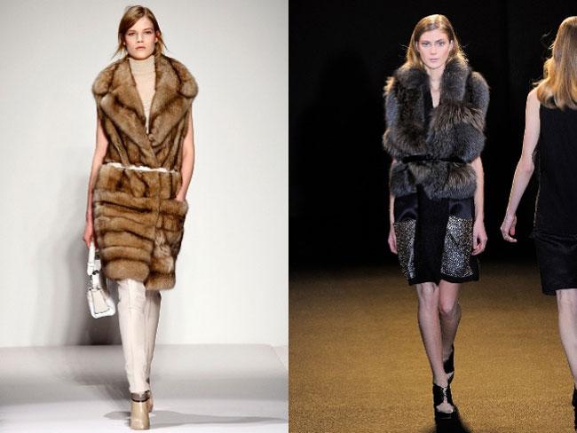 Модные меховые жилетки 2015-2016