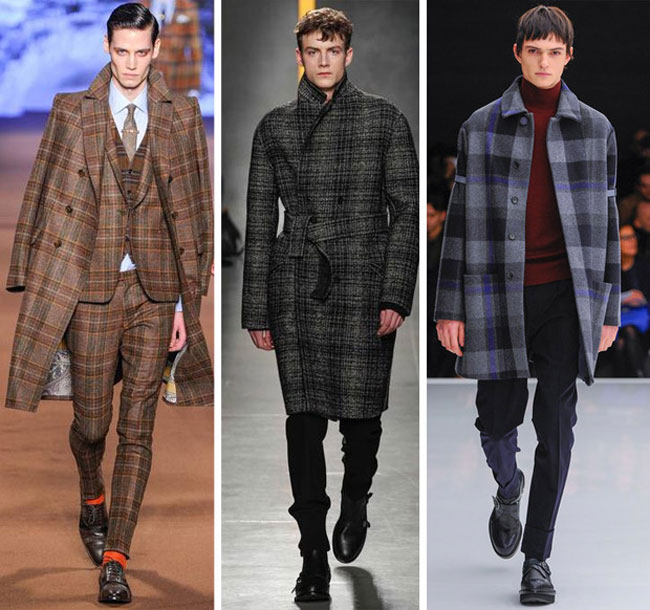 Мужские пальто в клетку осень-зима 2015-2016