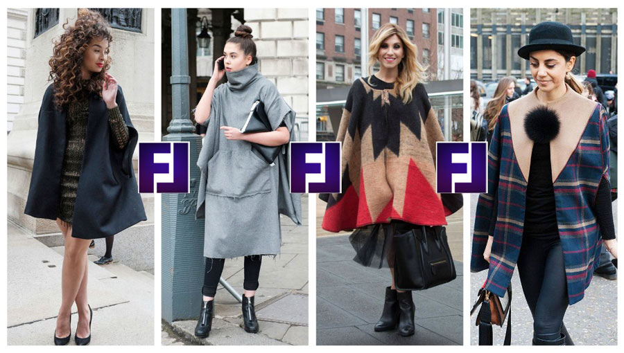 Уличная мода - кейпы, пончо, накидки 2015-2016