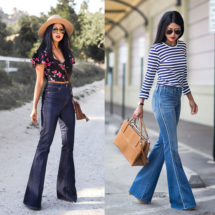 с чем носить джинсы клеш фото 2016