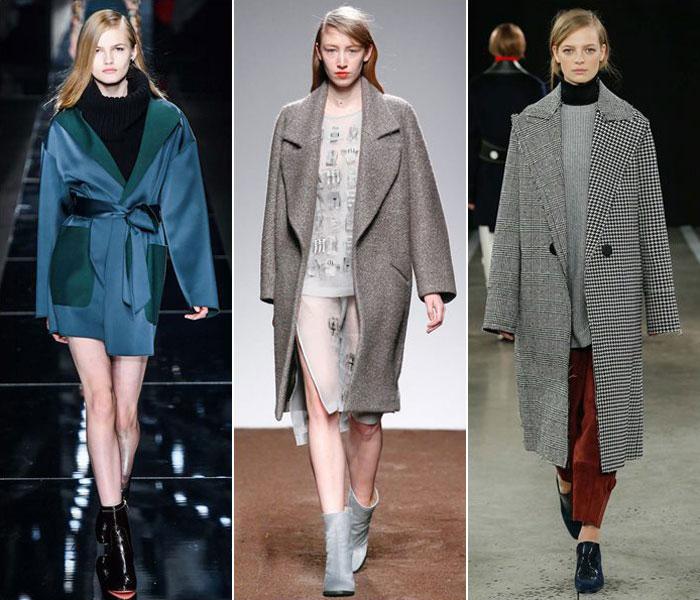 Модные пальто oversize в коллекциях осень-зима 2015-2016