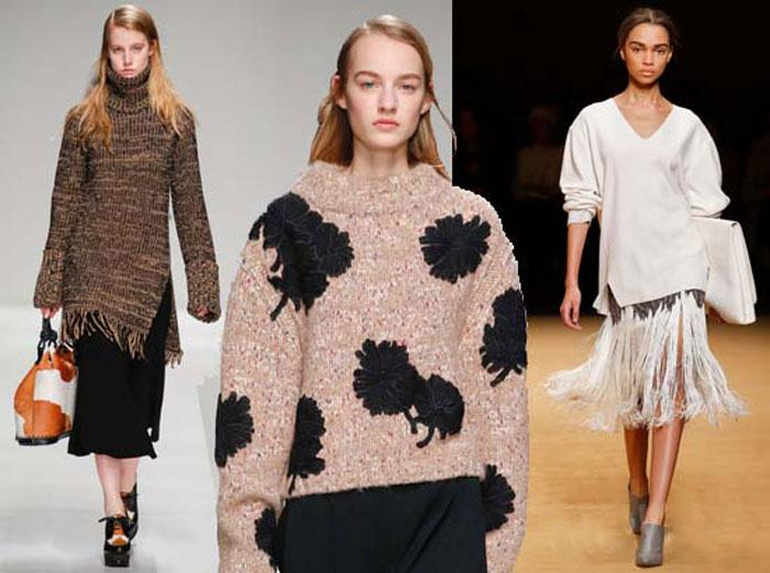 Джемпер oversize в модных коллекциях осень-зима 2015-2016