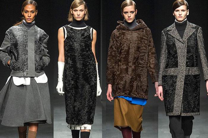 Каракуль в модных коллекциях осень-зима 2015-2016