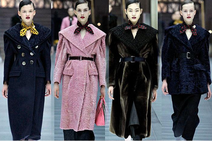 Модные пальто из каракуля в колекциях осень-зима 2015-2016