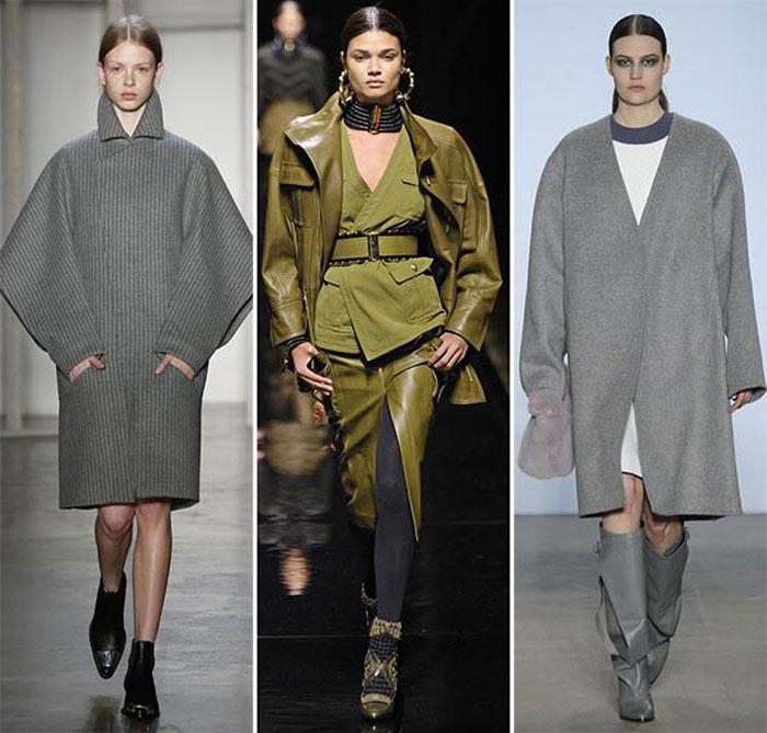 Модные пальто оверсайз в коллекциях 2015-2016