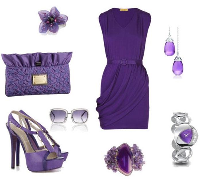 Аксессуары для фиолетовых нарядов