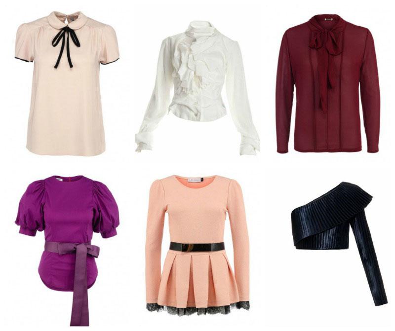 Блузы и топы для фигуры-груша