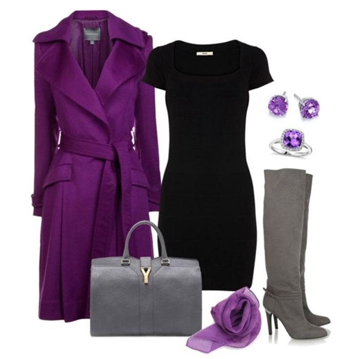 Деловая мода в фиолетовых тонах