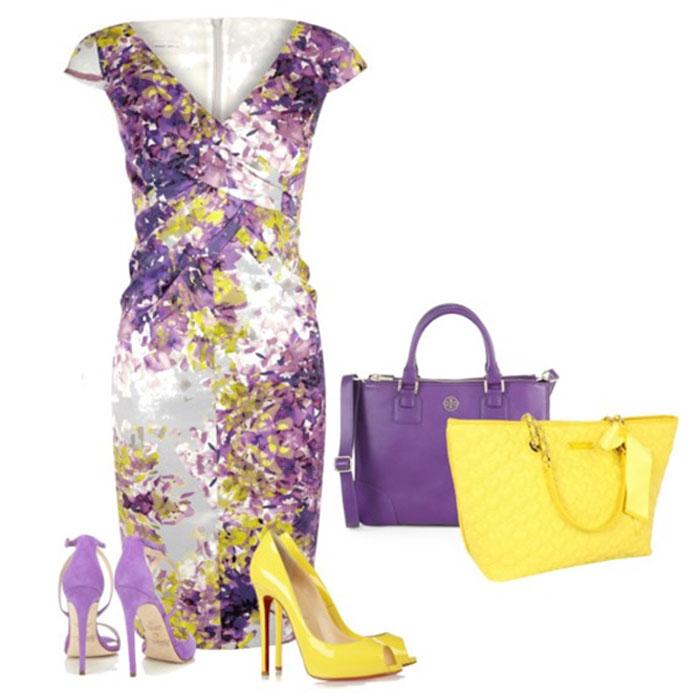 Фиолетовый как центральный цвет модного образа