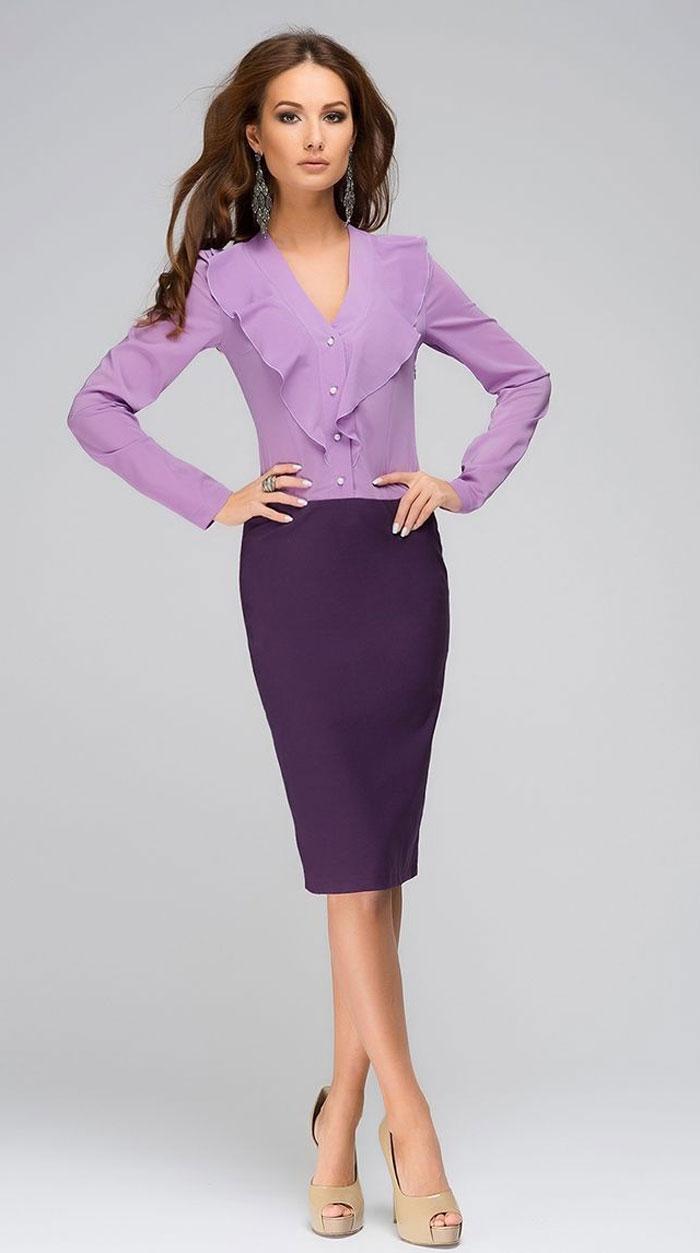 Фиолетовый цвет в офисной моде