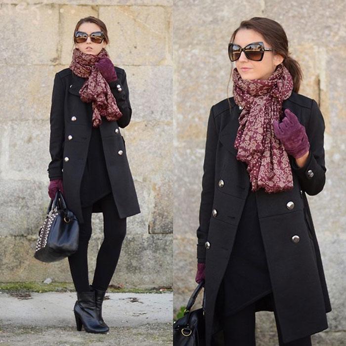 Как красиво завязать шарф зимой