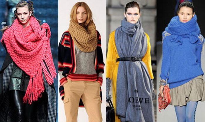 Как подобрать яркий зимний шарф к одежде