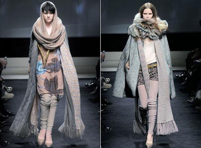 Вязаные модные шарфы осень-зима 2015-2016 своими руками