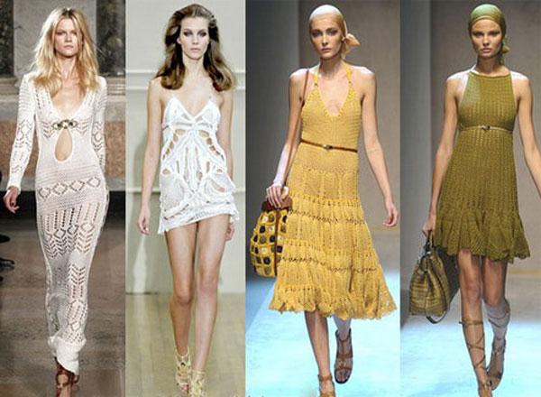 Кому подходят летние вязанные платья