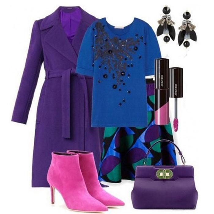 С чем сочетать фиолетовый цвет в одежде