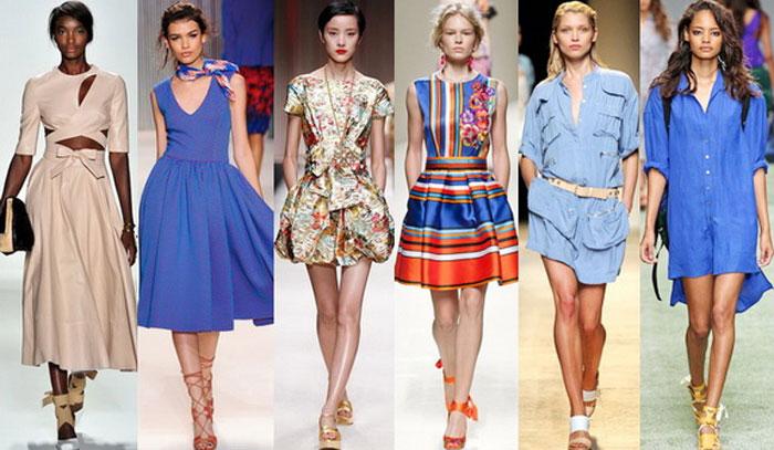 Модные цвета и принты летних платьев 2016