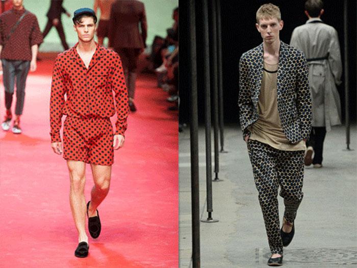 Пижамный стиль в мужской моде весна-лето 2016