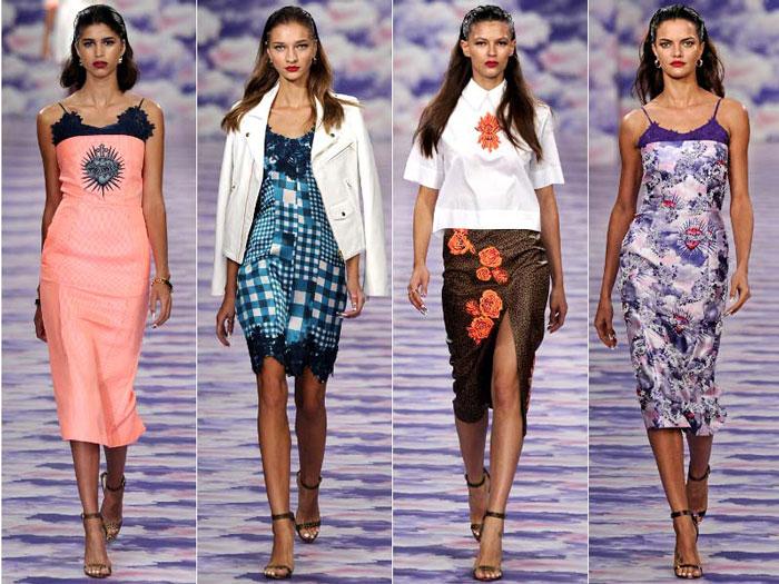 Модные цвета и принты летних платьев весна-лето 2016