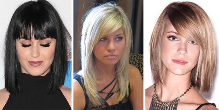 Причёска на средние волосы фото с челкой своими руками