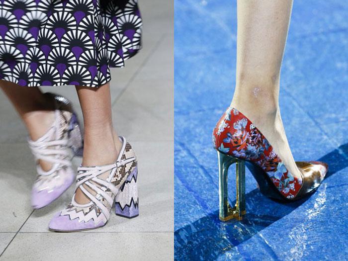 Актуальные цвета туфель весна-лето 2016