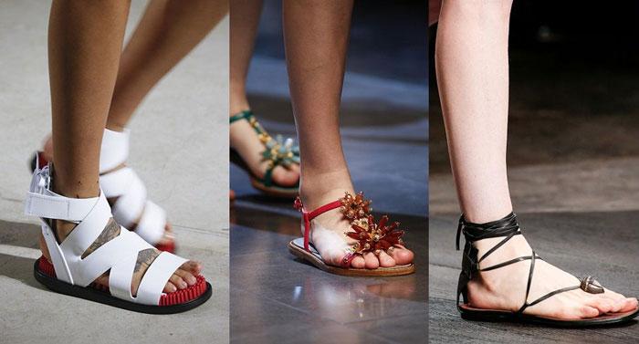Модные босоножки без каблука 2016