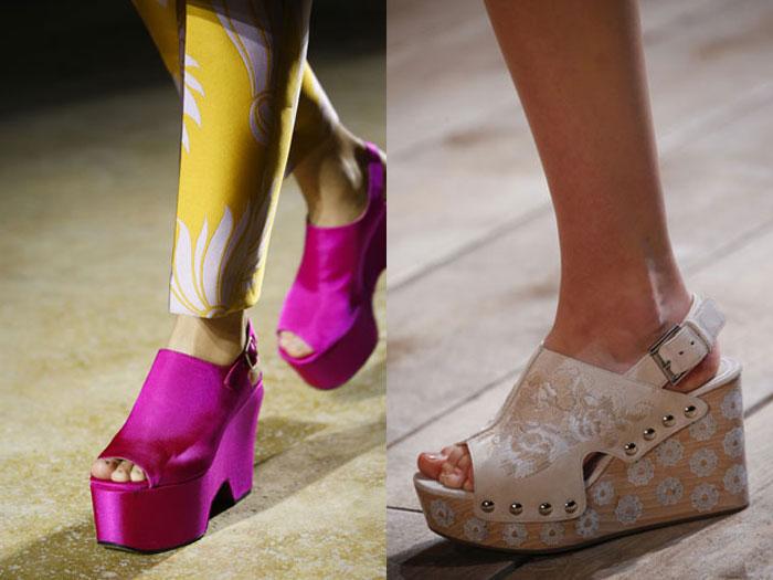 Модные босоножки на платформе 2016