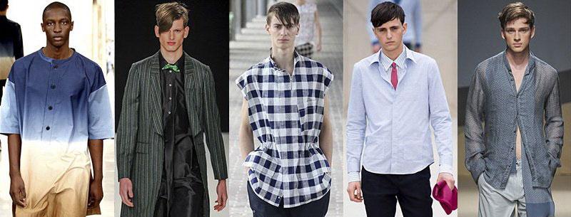 Модные мужские рубашки под джинсы весна-лето 2016
