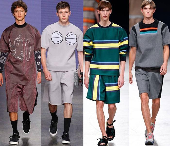 Модные принты на мужских шортов 2016