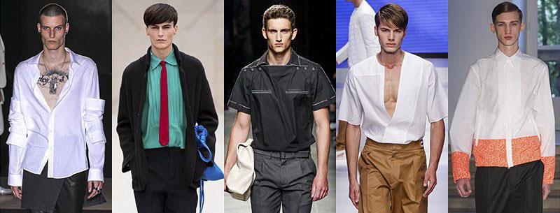 Новинки мужских рубашек весна-лето 2016