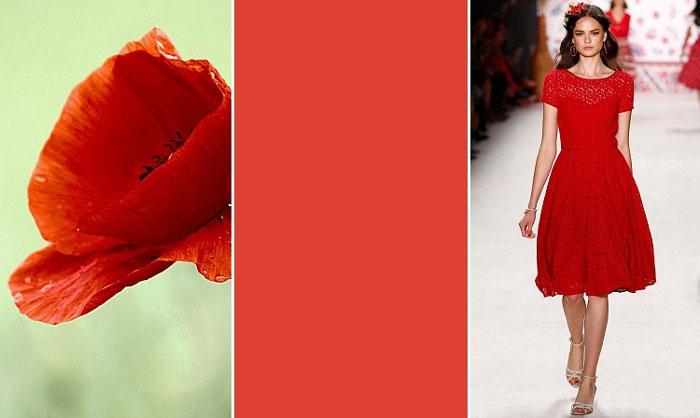 Модный красный цвет в одежде весна-лето 2016