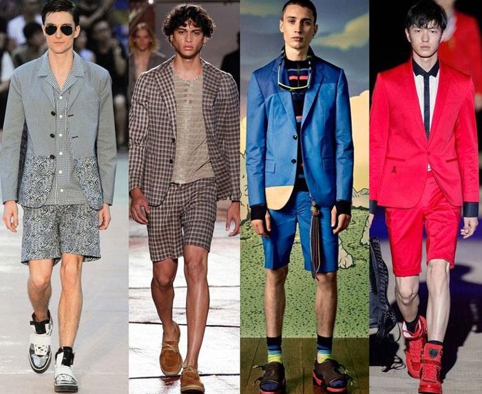 Модные цвета мужских шорт 2016