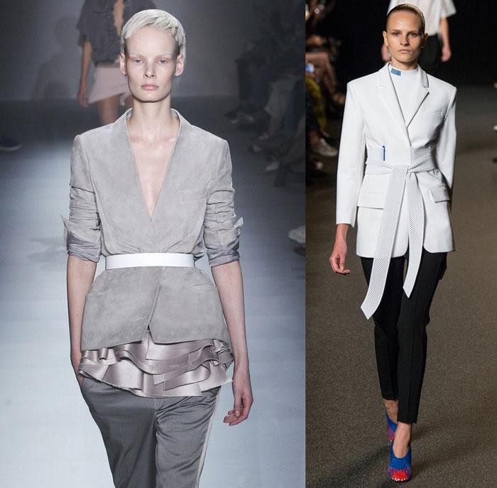 Модние пиджаки с поясом весна-лето 2016