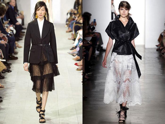 Модные Прозрачные юбки теплого сезона 2016 фото