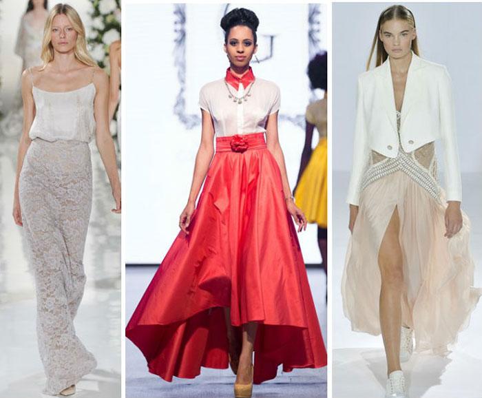 Модные юбки длиной в пол весна-лето 2016
