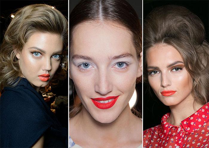 Модный макияж губ весна-лето2016