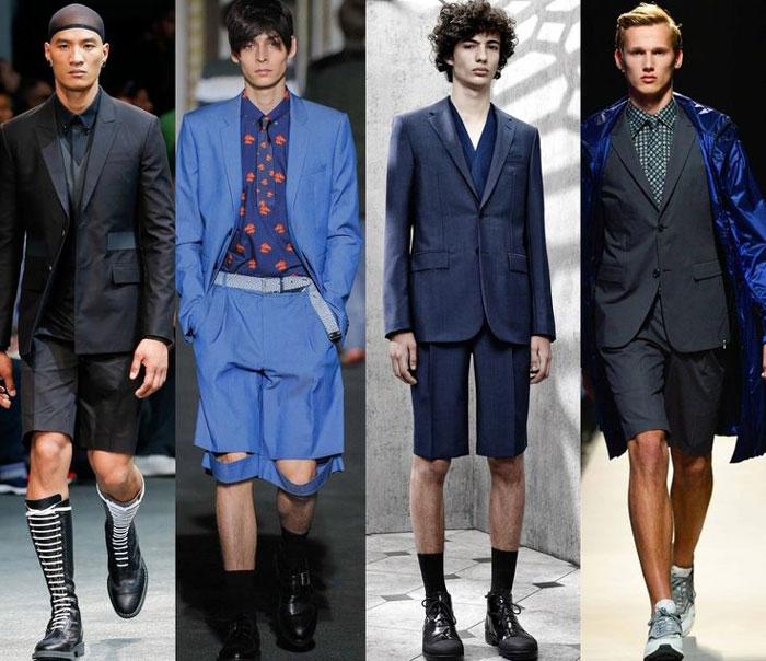 С чем носить шорты в 2016 мужчине?